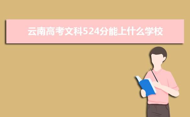 2021云南高考文科524分可以上什么大学