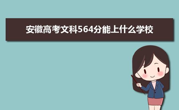 2021安徽高考文科564分可以上什么大学