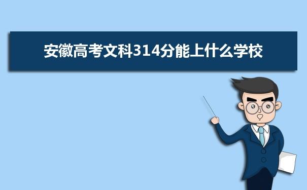 2021安徽高考文科314分可以上什么大学