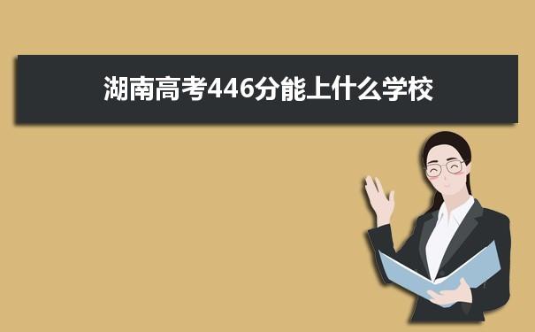 2021湖南高考446分可以上什么大学