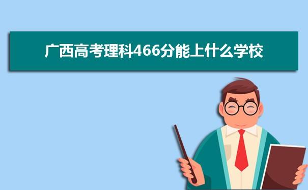 2021广西高考理科466分可以上什么大学