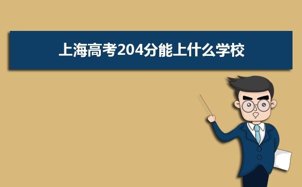 2021上海高考204分可以上什么大学