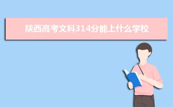 2021陕西高考文科314分可以上什么大学