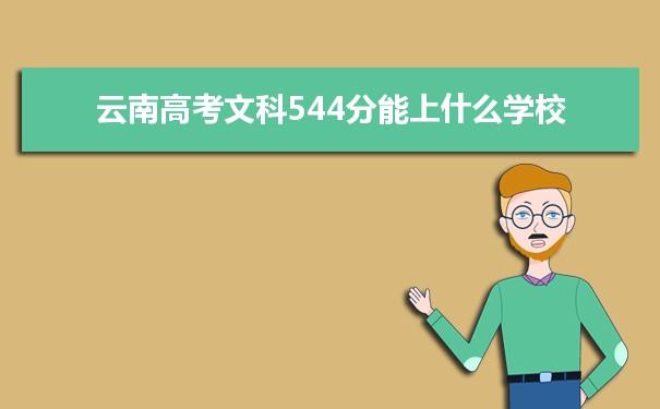 2021云南高考文科544分可以上什么大学