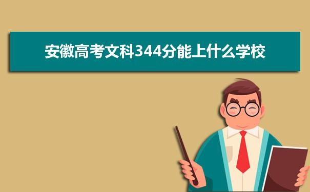 2021安徽高考文科344分可以上什么大学