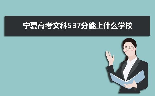 2021宁夏高考文科537能上什么大学