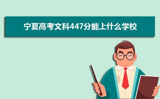 2021宁夏高考文科447能上什么大学