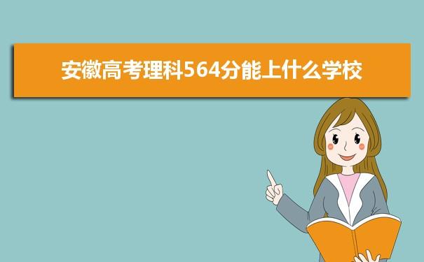 2021安徽高考理科564能上什么大学