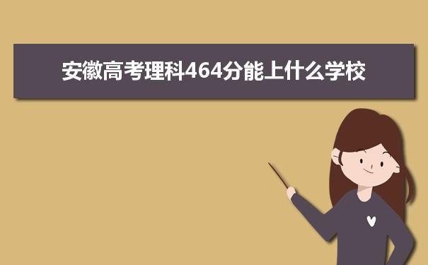 2021安徽高考理科464能上什么大学