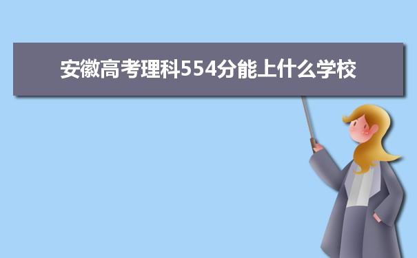 2021安徽高考理科554能上什么大学