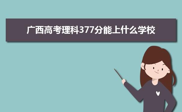 2021广西高考理科377能上什么大学
