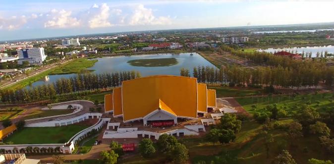 泰国孔敬大学鸟瞰图