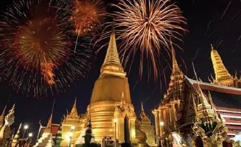 宋干节祝福 泰国新年快乐!