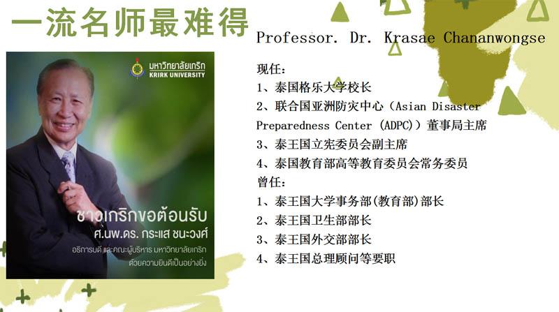 泰国格乐大学的师资力量怎么样?