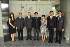 中国驻泰国大使馆官员参观 访问曼谷大学
