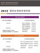 2012年度 研究生学院学期时间表(中文版)